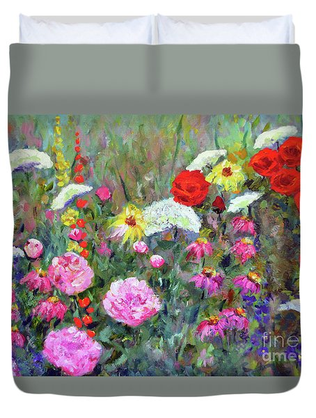 Old Fashioned Garden Duvet Cover by Claire Bull