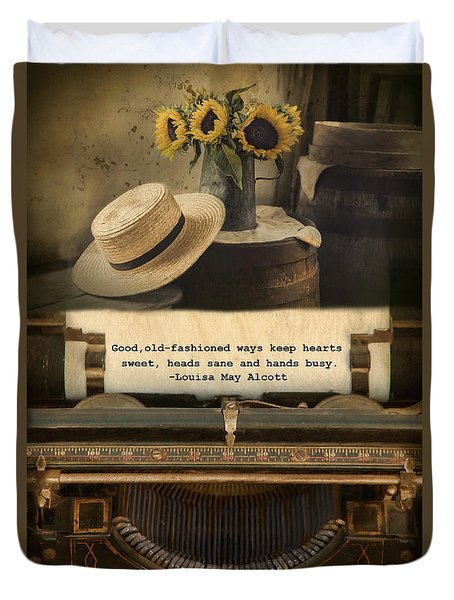Duvet Cover featuring the photograph Old Fashioned Morals by Robin-Lee Vieira
