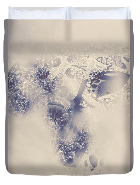Old-fashioned Venice Mask Duvet Cover