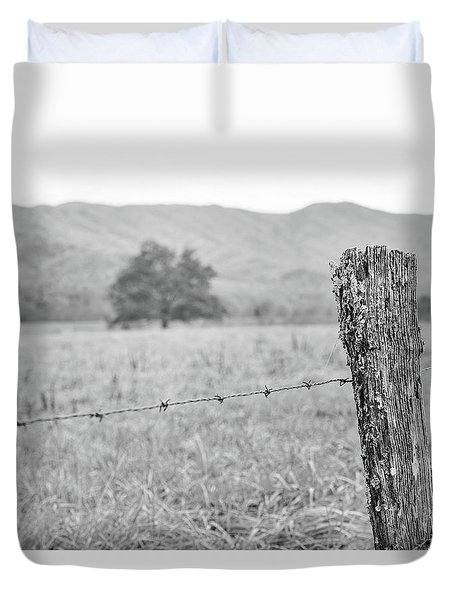 Old Fence Post Duvet Cover