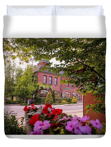 Old Fire Station Easthampton, Ma Duvet Cover