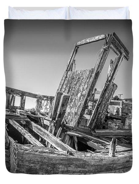 Old Fishing Boat. Duvet Cover