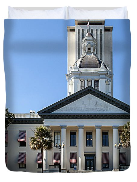 Old Florida Capitol Duvet Cover by Frank Feliciano