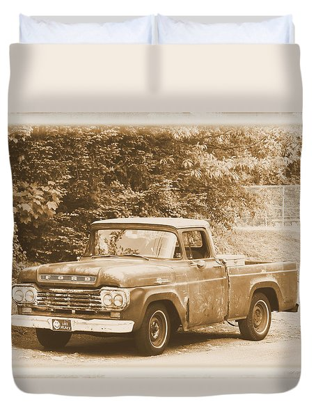 Old Ford Truck Duvet Cover