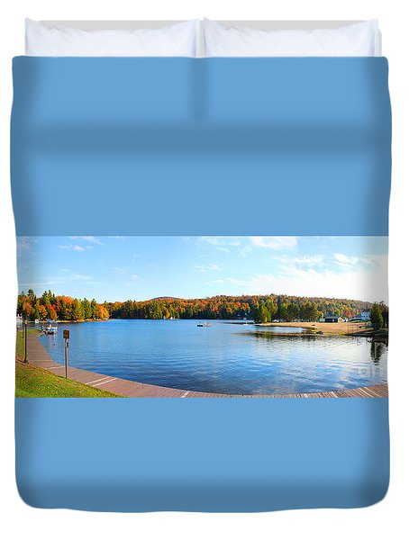 Old Forge Duvet Cover by Mariarosa Rockefeller