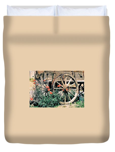 Old Freight Wagon Duvet Cover