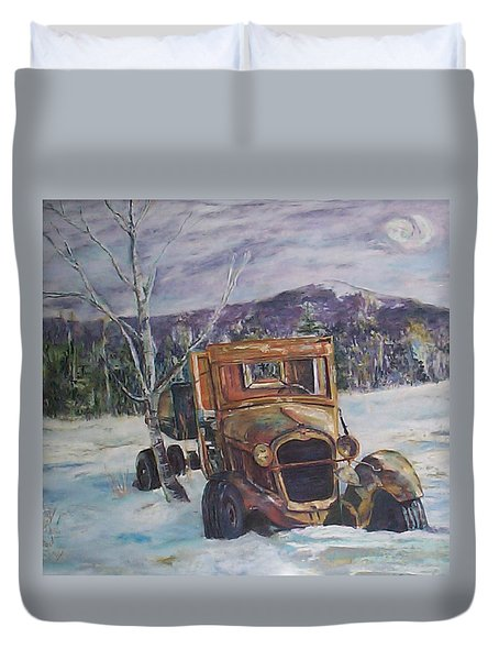 Old Friend II Duvet Cover by Alicia Drakiotes