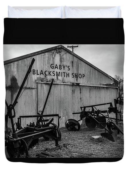 Old Frisco Blacksmith Shop Duvet Cover