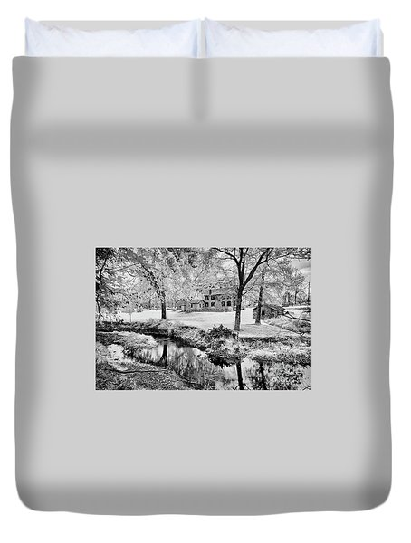 Duvet Cover featuring the photograph Old Frontier House by Paul W Faust - Impressions of Light