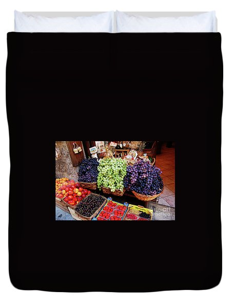 Old Fruit Store Duvet Cover