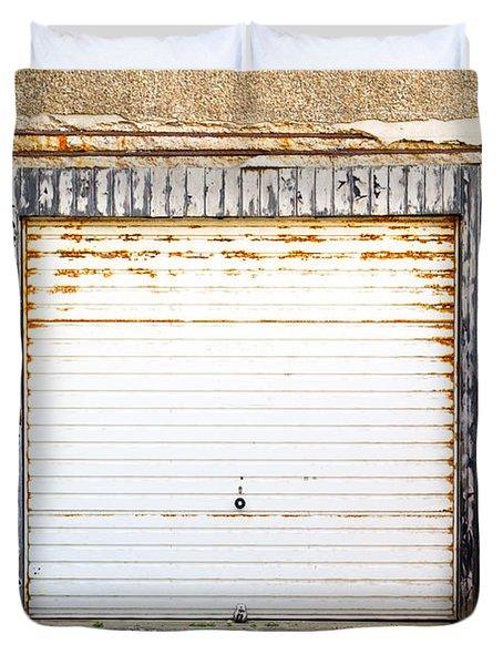 Old Garage Door Duvet Cover