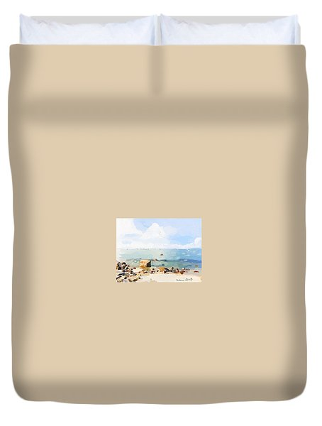 Old Garden Beach  Duvet Cover