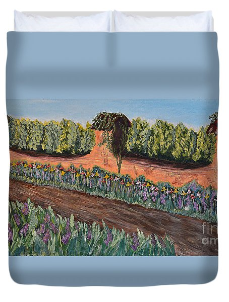 The Path To Old Garden Duvet Cover