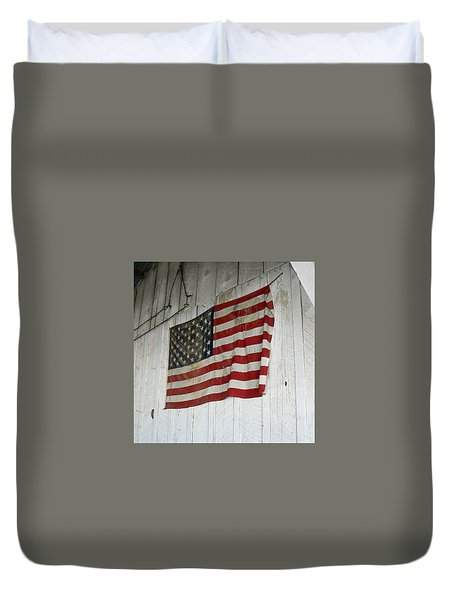 Old Glory Duvet Cover by Laurel Powell
