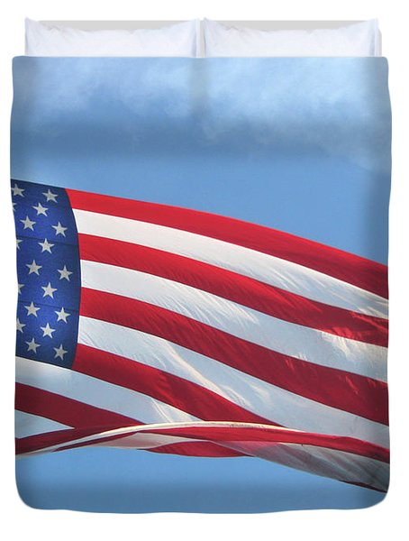 Old Glory Never Fades Duvet Cover