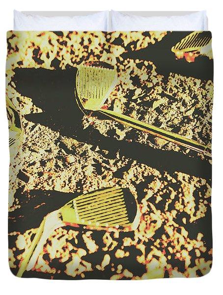 Old Golfing Games Duvet Cover