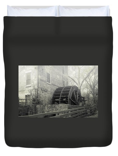 Duvet Cover featuring the photograph Old Graue Mill by Julie Palencia