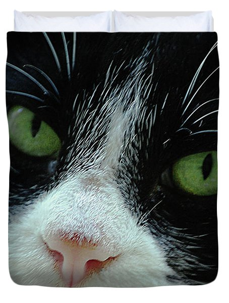 Old Green Eyes Duvet Cover by DigiArt Diaries by Vicky B Fuller