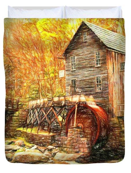 Old Grist Mill Duvet Cover