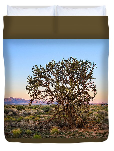 Old Growth Cholla Cactus View 2 Duvet Cover