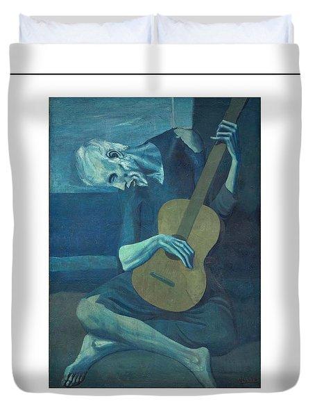 Old Guitarist Duvet Cover