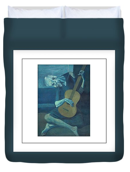 Old Guitarist Duvet Cover