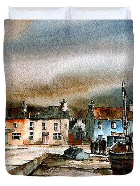 Old Harbour Dingle, Kerry Duvet Cover
