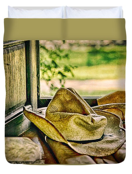 Old Hat Duvet Cover