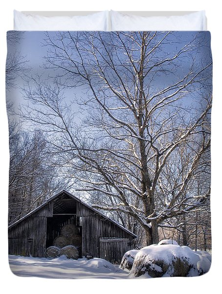 Old Hay Barn Boxley Valley Duvet Cover by Michael Dougherty