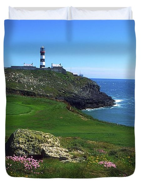 Old Head Of Kinsale Lighthouse Duvet Cover by The Irish Image Collection
