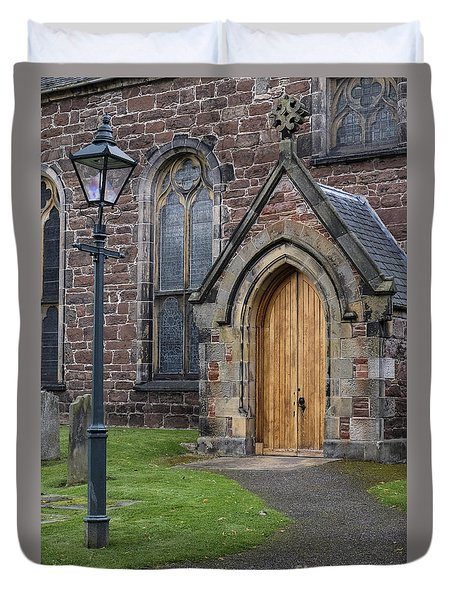 Old High Church - Inverness Duvet Cover by Amy Fearn