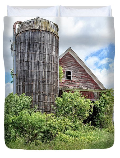 Old Historic Barn In Vermont Duvet Cover