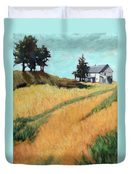 Old House On The Hill Duvet Cover