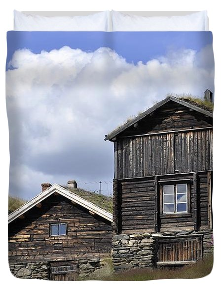 Old Houses In Roeros Duvet Cover