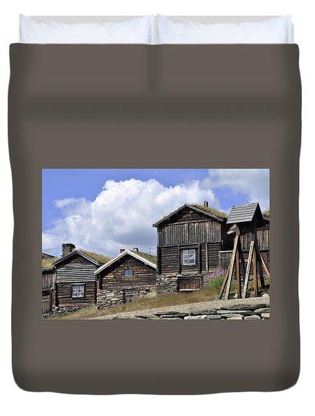 Old Houses In Roeros Duvet Cover