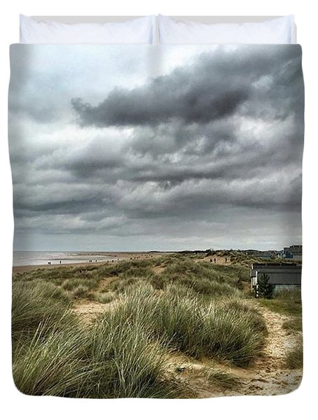 Old Hunstanton Beach, North #norfolk Duvet Cover by John Edwards