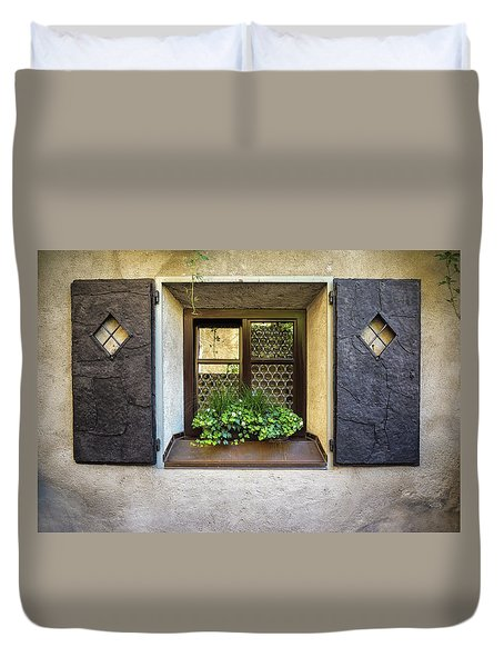 Old Iron Window Duvet Cover by Alfio Finocchiaro