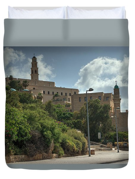 Old Jaffa Port 2 Duvet Cover