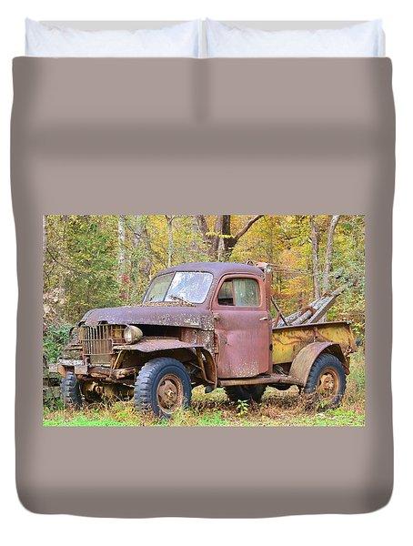 Old Jalopy Duvet Cover