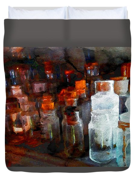 Old Jars Duvet Cover