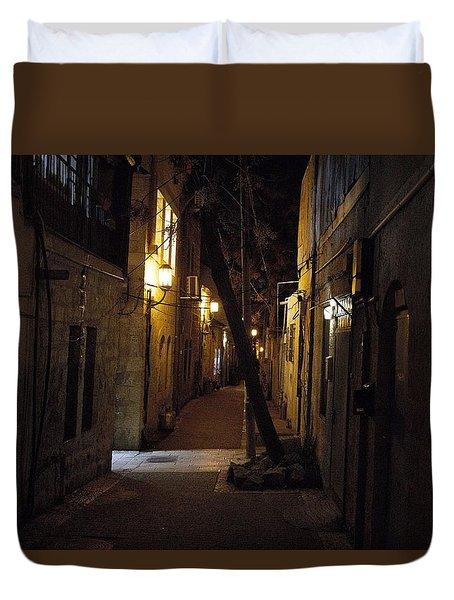 Old Jerusalem Duvet Cover by Shlomo Zangilevitch