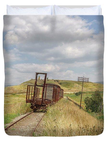 Jezre'el Valley Old Railway Station Duvet Cover
