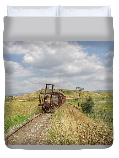 Jezre'el Valley Old Railway Station Duvet Cover