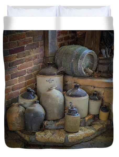 Old Jugs Color - Dsc08891 Duvet Cover
