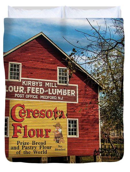 Old Kirby's Flower Mill Duvet Cover