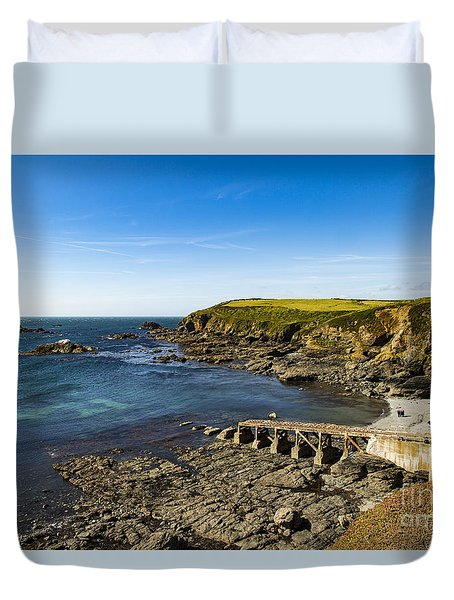Duvet Cover featuring the photograph Old Life Boat Station by Brian Roscorla
