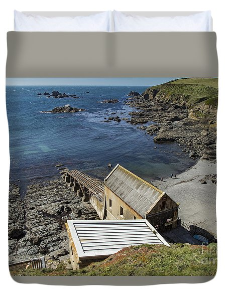 Duvet Cover featuring the photograph Old Lifeboat Station by Brian Roscorla