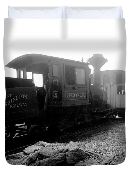 Old Locomotive Duvet Cover by Sebastian Musial
