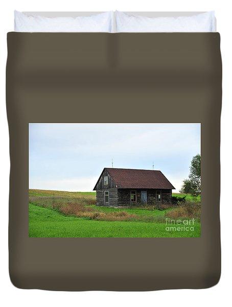 Old Log Cabin Duvet Cover