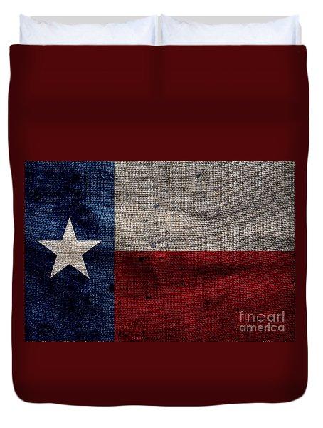 Old Lone Star Flag Duvet Cover by Jon Neidert